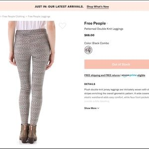 Free People Knit Leggings. Large-excellent Cond.